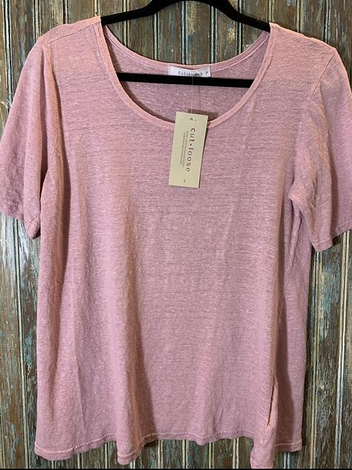 Elbow Sleeve Linen T-Shirt