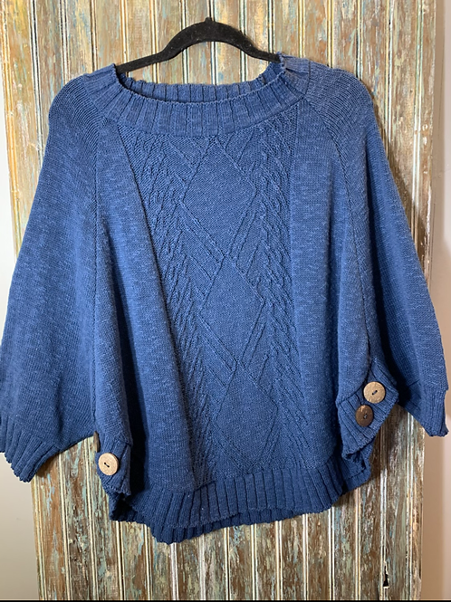 Cotton Poncho Sweater