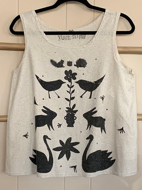 Hand Printed Cotton Tank
