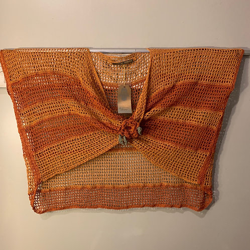 Crocheted Rust Mobius Topper