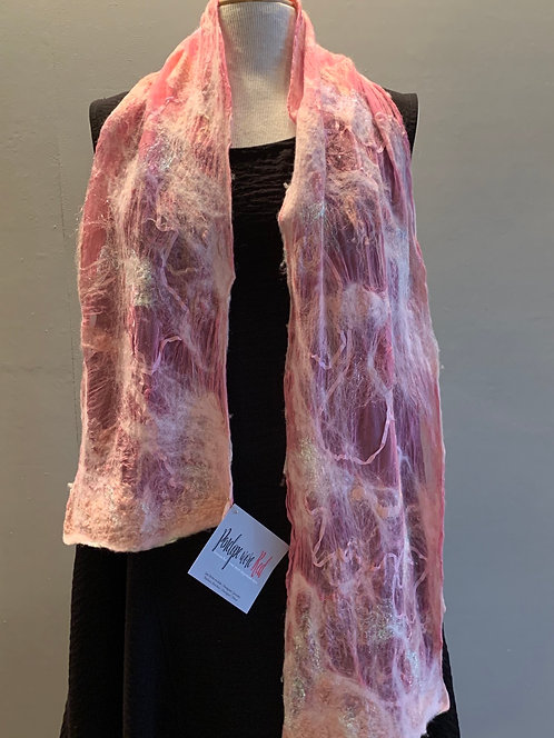 Felted Wool & Silk Scarf