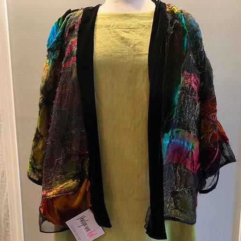 Velvet Trimmed Kimono