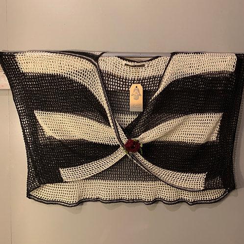 Crocheted Black & White Mobius Topper