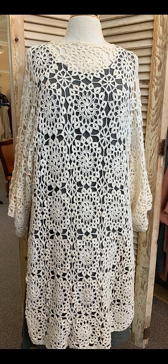 Crocheted Cream Tunic