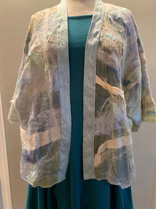 Silk Trimmed Kimono