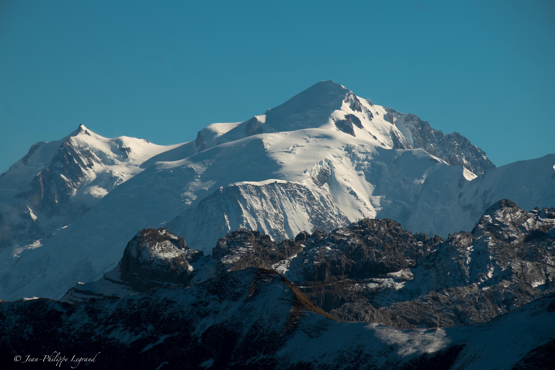 Pointe Percée et Mont-Blanc