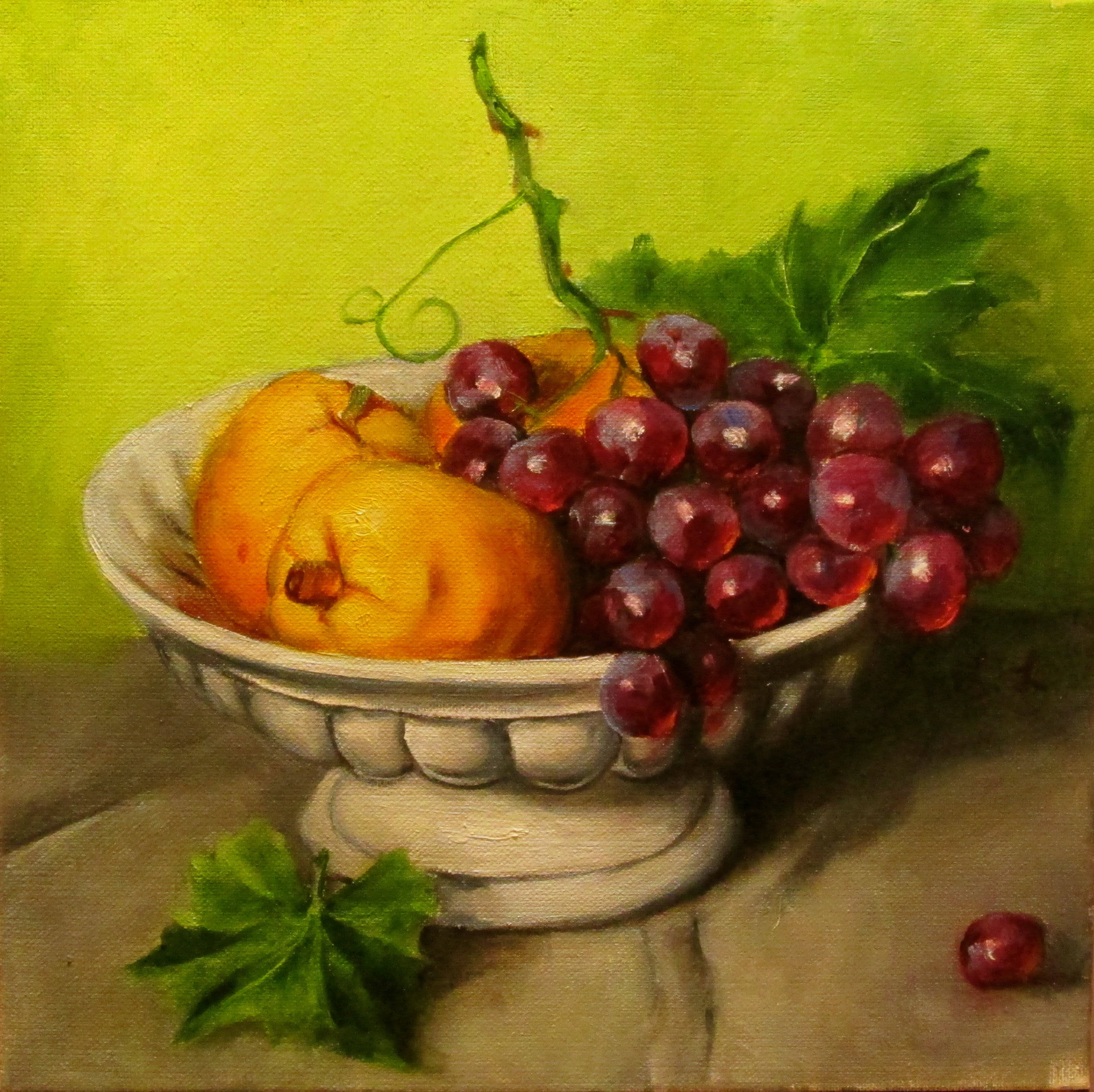 Quince and Grapes