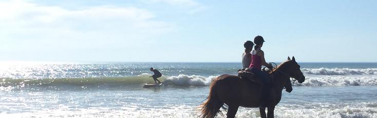 Surf et balade à cheval sur la plage de Montalivet