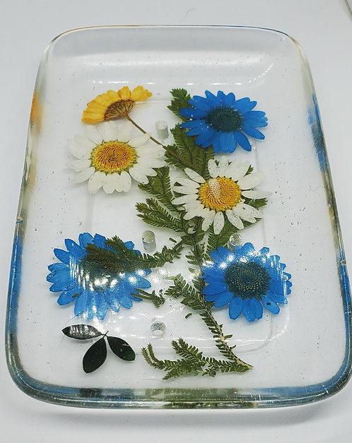 Azure's Secret Soap Tray Pressed Flowers