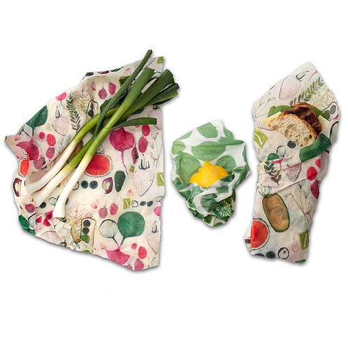 Three Pack Reusable Food Storage Wraps