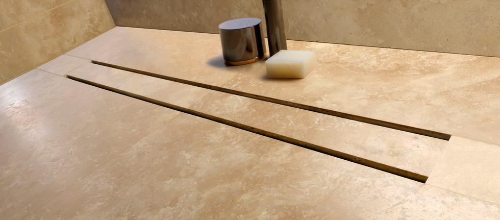 Evolux Integra linear shower drain by GURU USA