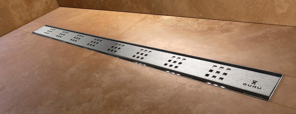 Evolux Plus linear shower drain by GURU USA