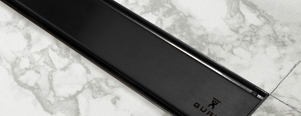 Evolux Nero linear shower drain by GURU USA