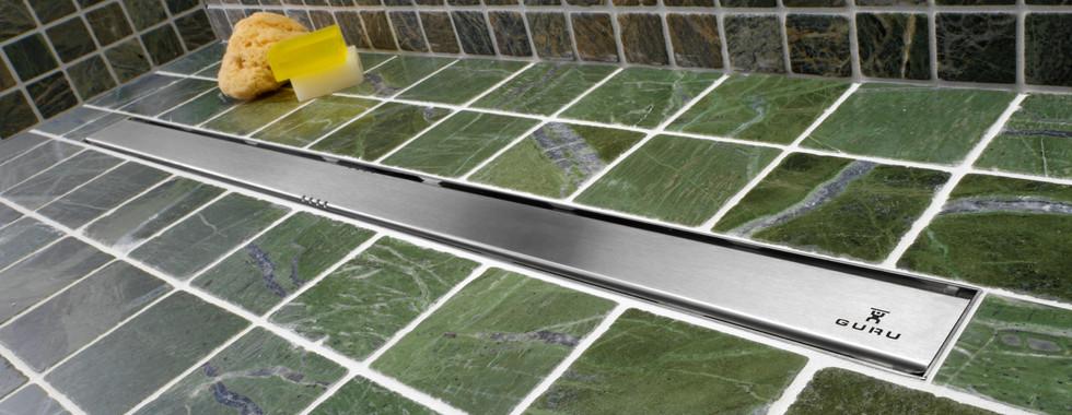 Evolux Lisa linear shower drain by GURU USA