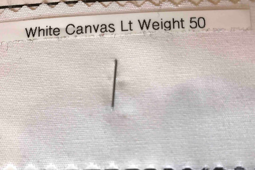 White Canvas Light Weight 50