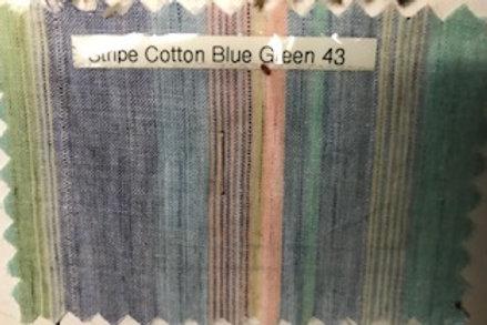 Stripe Cotton Blue Green 43