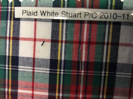 Plaid White Stuart P/C 2010-11