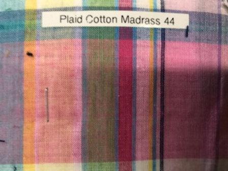 Plaid Cotton Madrass 44