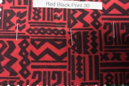Red Black Print 30