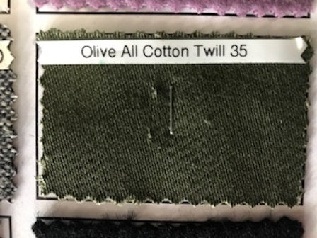 Olive All Cotton Twill 35