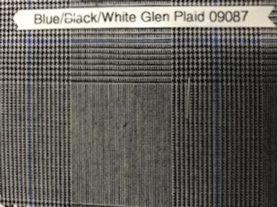 Blue/Black/White Glen Plaid 09087