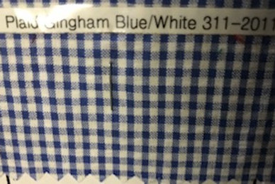 Plaid Gingham Blue/White 311-2011