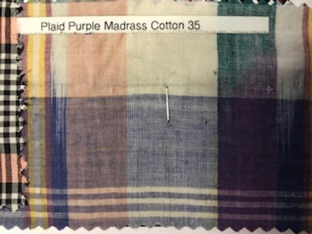 Plaid Purple Madrass Cotton 35