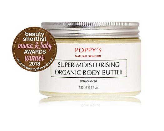 Unfragranced | Super Moisturising Organic Body Butter 150ml