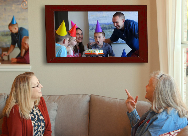 Friends enjoying MemoryViews TV