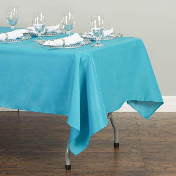 Rectangular Tablecloth Turquoise