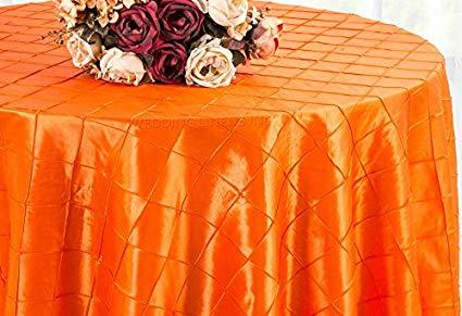 Pintuck Taffeta Tablecloth Orange