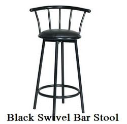 Black Swivel Bar Stools