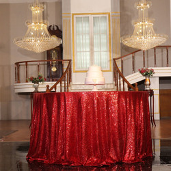 Red Sequin Tablecloth