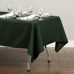 Rectangular Tablecloth Hunter Green