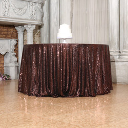 Brown Sequin Tablecloth