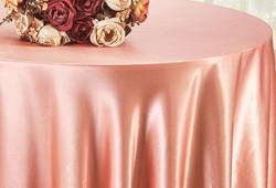 Rose Gold Satin Tablecloth