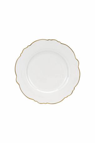Wavy Salad Plate Gold Rim