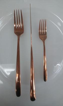 All Copper Flatware Set