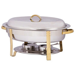 Chafing dish oval gold