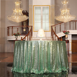 Mint Green Sequin Tablecloth