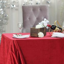 Wine Premium Velvet Rectangle Tablecloth