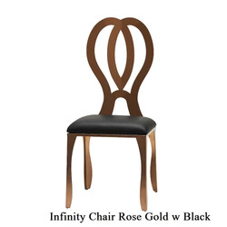 Rose Gold Infinity Chair with Black Pad.