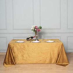 Gold Premium Velvet Rectangle Tablecloth