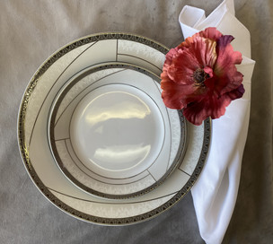 Dinnerware Silver Rim