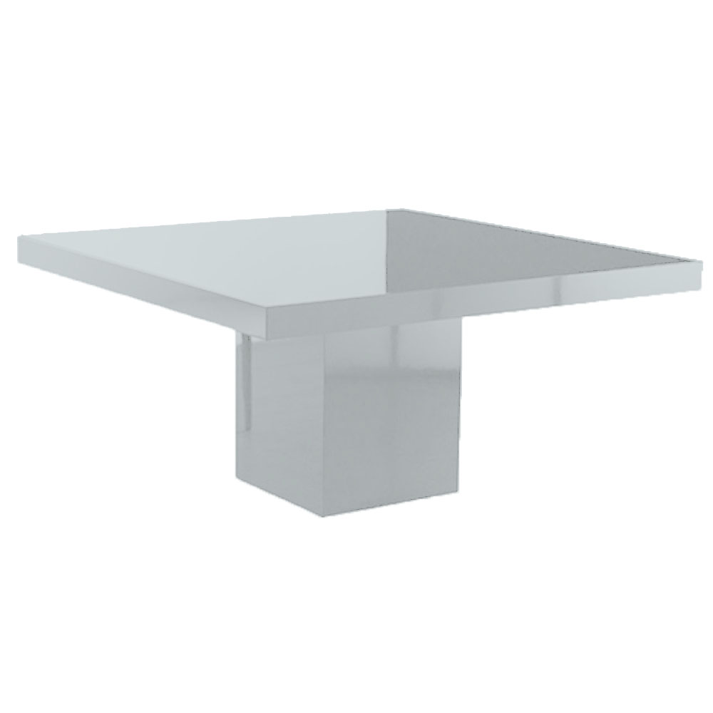 Glossy Square Table Silver