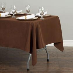 Rectangular Tablecloth Chocolate