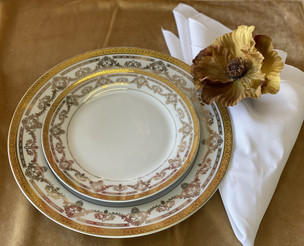 Dinnerware Gold Rim