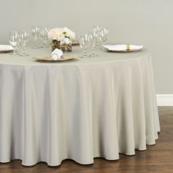 Round Polyester Tablecloth Grey