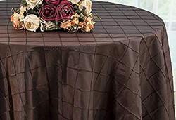 Pintuck Taffeta Tablecloth Chocolate