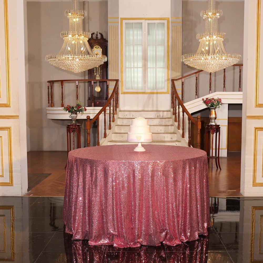 Fuchsia Pink Sequin Tablecloth